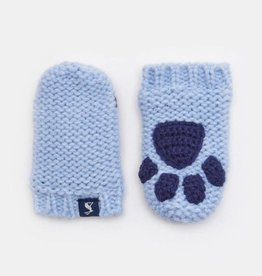 Joules Baby Paws Mittens Sky Blue
