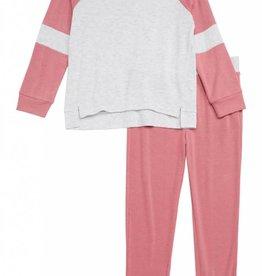 Splendid Rose Tweed Top Side Set