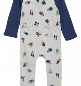 Splendid Light Grey Heather Onesie Raglan