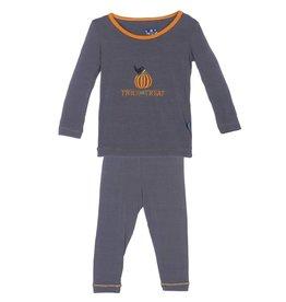 Kickee Pants Stone Trick or Treat Holiday LS Pajama Set