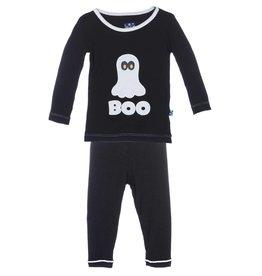 Kickee Pants Midnight BOO Holiday LS Pajama Set