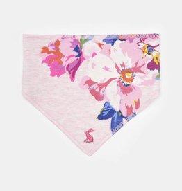 Joules Reversible Printed Bib Pink Marl Granny Floral