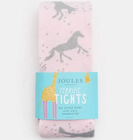 Joules Partykins Party Tights Dusk Pink