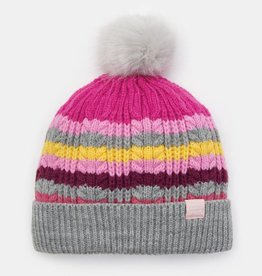 Joules Bobble Hat Multi Stripe
