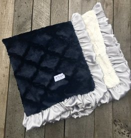 Rockin Royalty Navy Baby Lovie Blanket