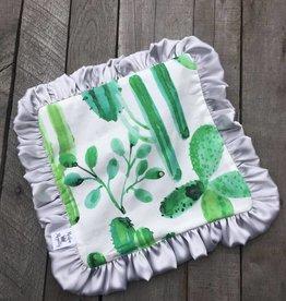 Rockin Royalty Watercolor Cactus Lovie Blanket