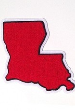 Louisiana Large Red/White/Black Chenille Patch