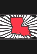 Louisiana Power Black and Red License Plate