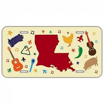 Louisiana Elements License Plate