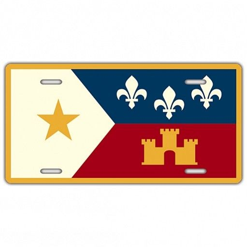 Acadian Flag License Plate