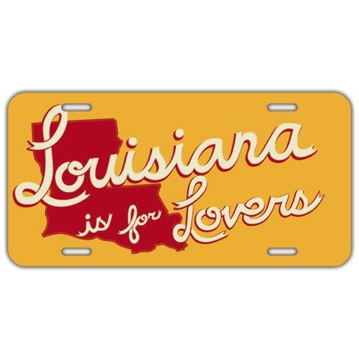 Louisiana is for Lovers License Plate