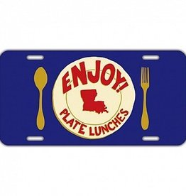 Enjoy Plate Lunches License Plate