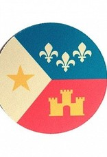 Acadian Flag Coaster