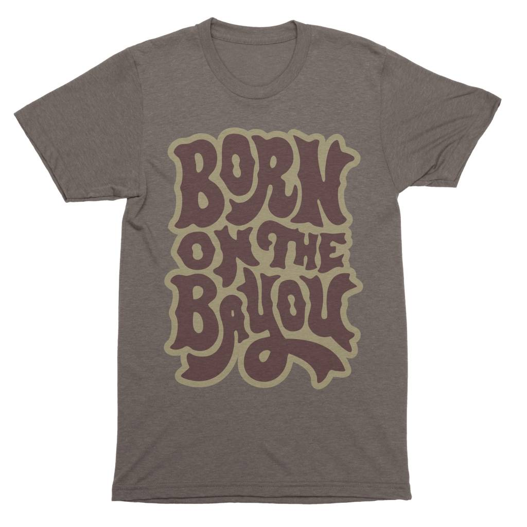 Born on the Bayou Mens Tee