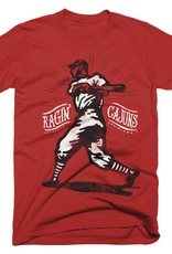 Ragin' Cajuns Baseball Player Mens Tee