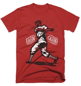 Ragin' Cajuns Baseball Player Mens Tee