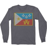 Acadian Flag Sweater Thermal Mens Tee