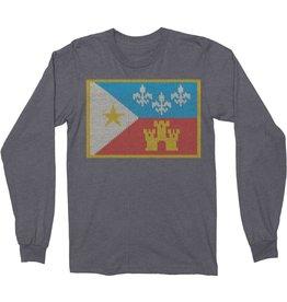 Acadian Flag Sweater Thermal Mens Tee