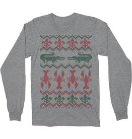 Cajun Christmas Sweater Thermal Mens Tee
