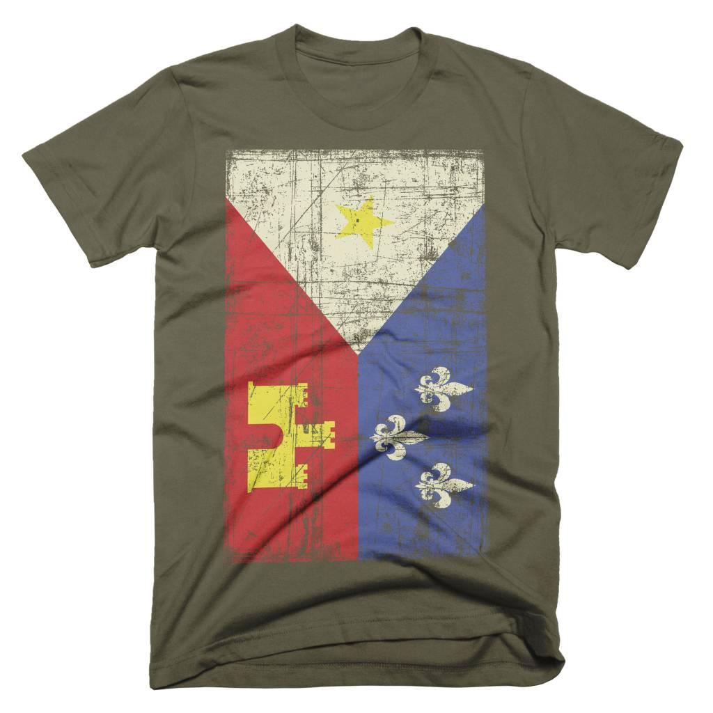 Acadian Flag Army Mens Tee