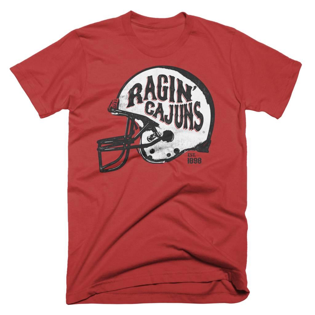 Ragin' Cajuns Helmet Mens Tee