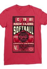 Cajuns Softball Ticket Womens Tee