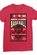 Cajuns Baseball Ticket Womens Tee