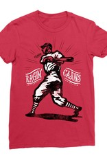 Ragin' Cajuns Baseball Player Womens Tee