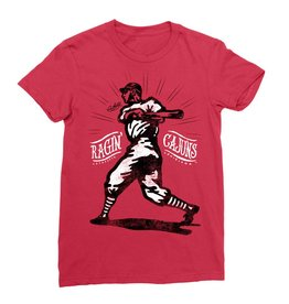 Ragin' Cajuns Baseball Player Womens Tee