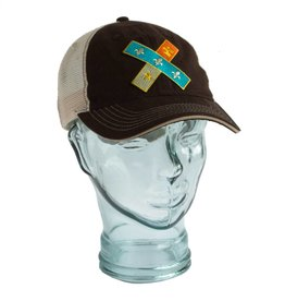 Cross Flag Unstructured Trucker Hat