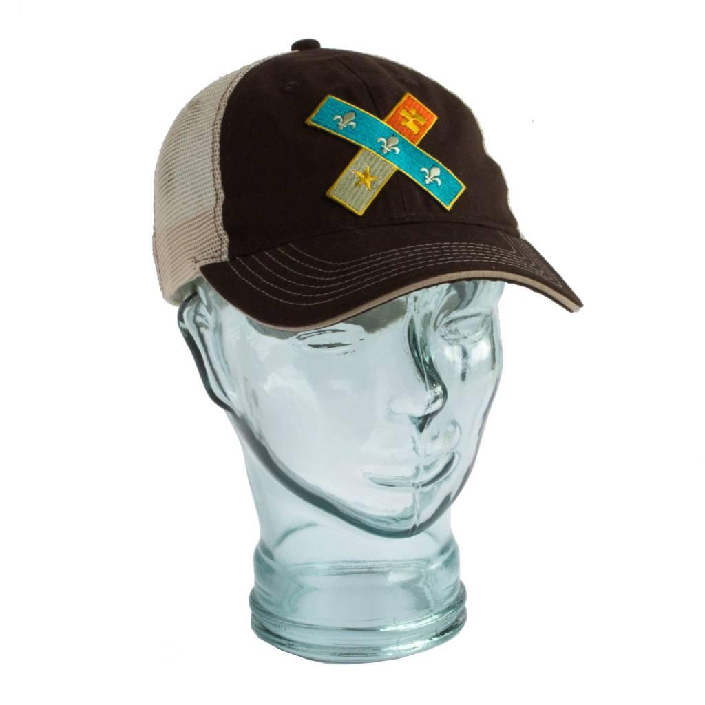 Cross Flag Unstructured Trucker Hat