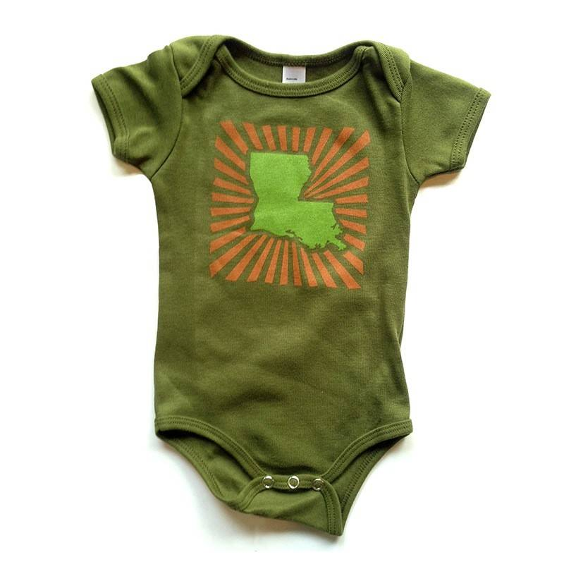 Louisiana Power Baby Onesie