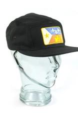 Acadian Flag Camp Hat Black