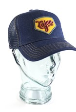 Cajun Denim Trucker Hat Navy/Gold