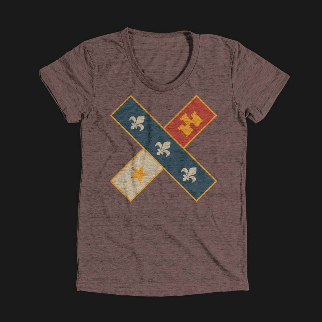 Cross Flag Womens Tee