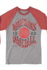 Ragin' Cajuns Baseball 1903 Mens 3/4 Sleeve Tee