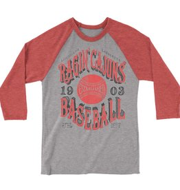 Ragin' Cajuns Baseball 1903 Mens 3/4 Sleeve Tee