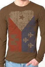 Acadian Flag Thermal Mens Tee