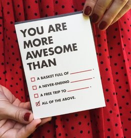 More Awesome Than Greeting Card