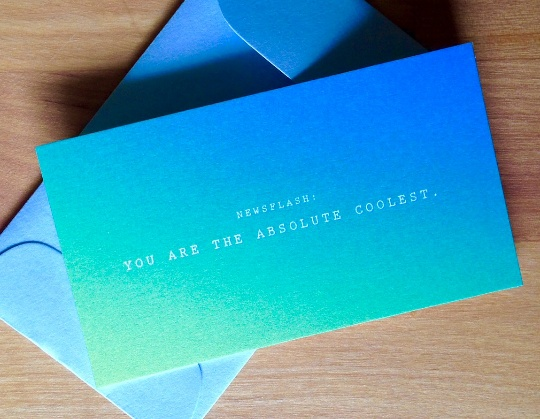 Newsflash: ABSOLUTE COOLEST Mini Card