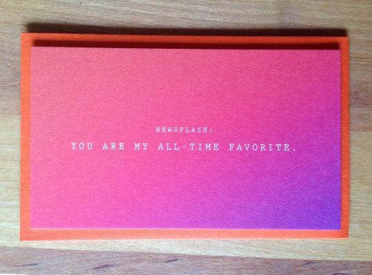 Newsflash: ALL TIME FAVORITE Mini Card