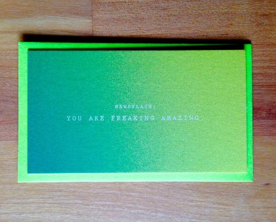 Newsflash: FREAKING AMAZING Mini Card
