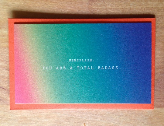 Newsflash: TOTAL BADASS Mini Card