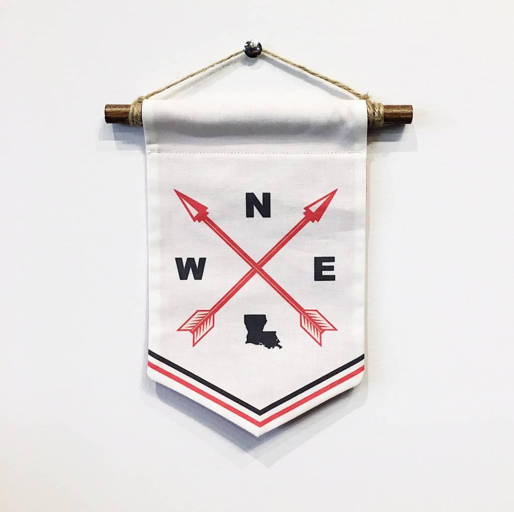 Louisiana Compass Banner - Small