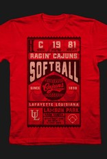 Cajuns Softball Ticket Mens Tee