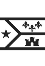 3x5 Black and White Acadiana Flag