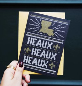 Heaux Heaux Heaux Black and Gold Greeting Card (Box of 8)