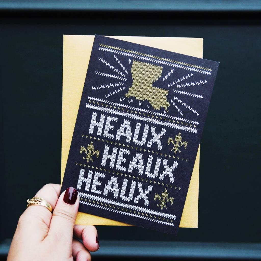 Heaux Heaux Heaux Black and Gold Greeting Card (Box of 8)