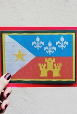 Acadian Flag Sweater Greeting Card