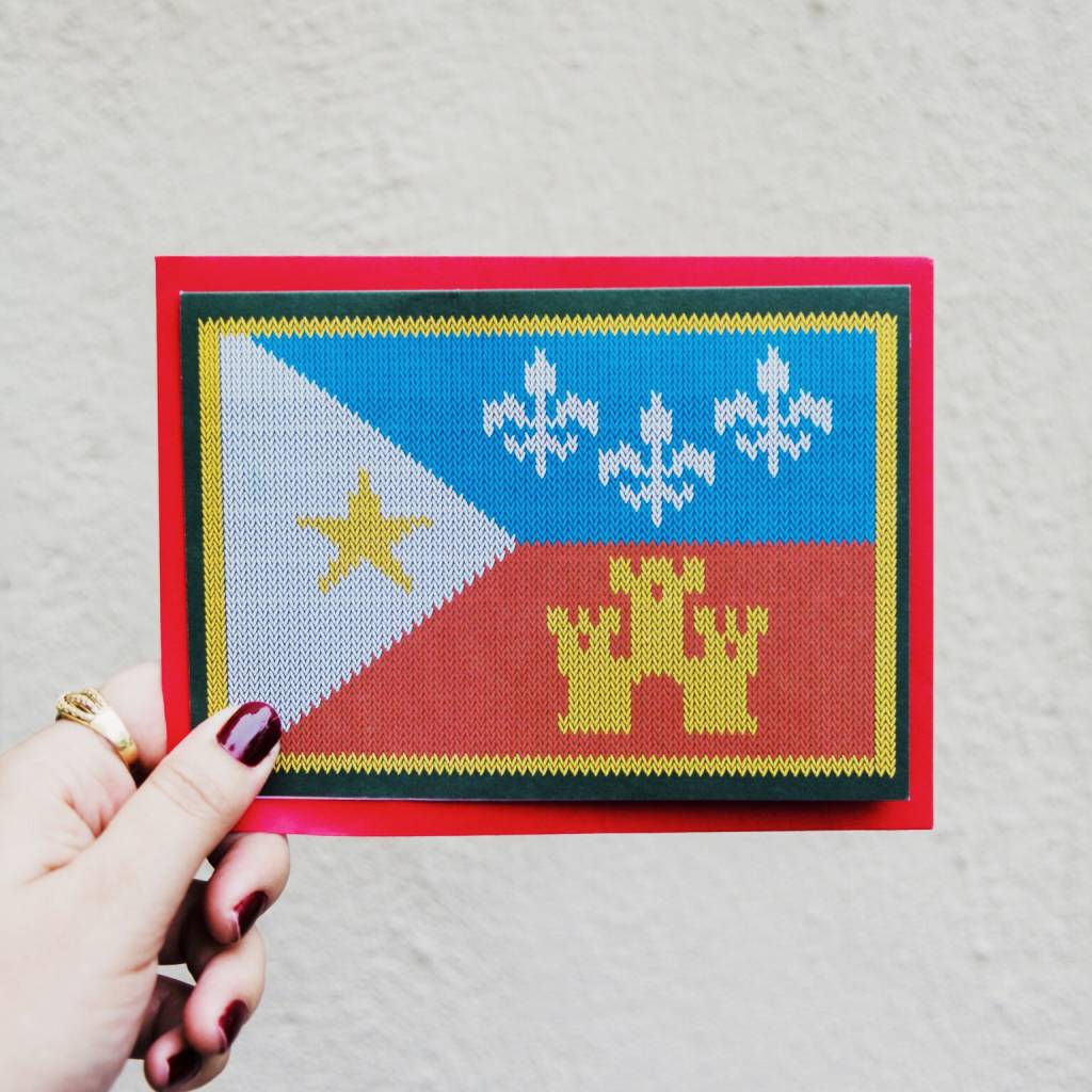 Acadian flag sweater greeting card box of 8 parish ink acadian flag sweater greeting card box of 8 m4hsunfo
